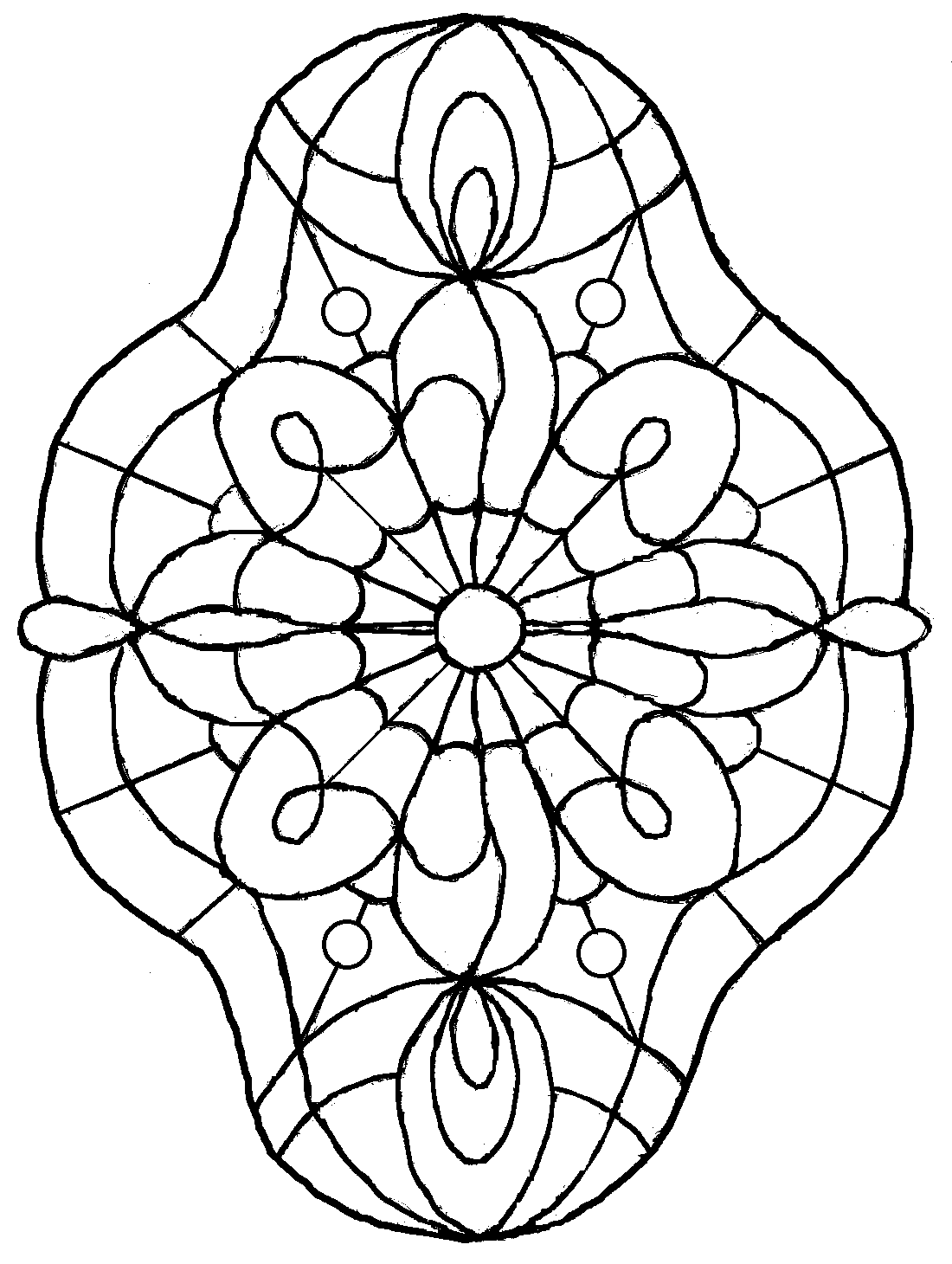 simple stained glass coloring pages - photo#10