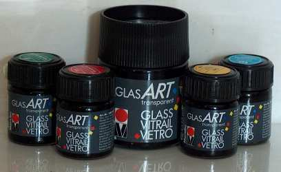 Solvent based professional paints for glass for Solvent based glass paint