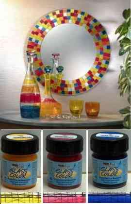 Water based for glass and porcelain for Can i paint glass with acrylic paint