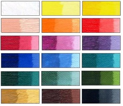 Color Charts And Info About Art Paints On Violtan